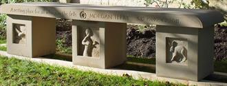 Memorial bench Yorkshire